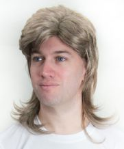 Hoddle/Waddle 80s 90s Style Mullet Football Fancy Dress Wig